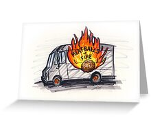 Meatballs of Fire Greeting Card