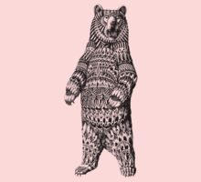 Ornate Grizzly Bear One Piece - Long Sleeve