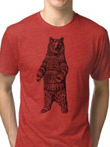 Ornate Grizzly Bear Tri-blend T-Shirt
