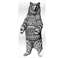 Ornate Grizzly Bear Poster
