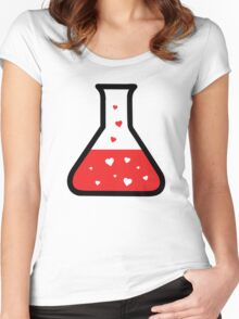 Love Potion (Science) Women's Fitted Scoop T-Shirt