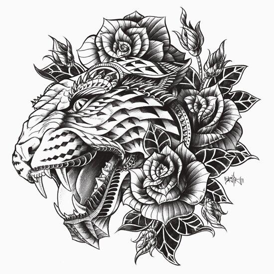 TShirtGifter presents: Ornate Leopard | Unisex T-Shirt