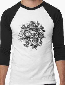 Ornate Leopard Men's Baseball ¾ T-Shirt