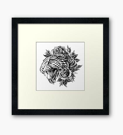 Ornate Leopard Framed Print