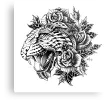 Ornate Leopard Metal Print