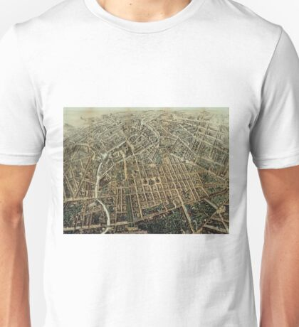 Vintage Pictorial Map of Berlin (1871) Unisex T-Shirt