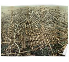 Vintage Pictorial Map of Berlin (1871) Poster