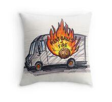 Meatballs of Fire Throw Pillow