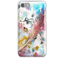 Red, White, and Blue & One Quail Feather - Rain Painting iPhone Case/Skin