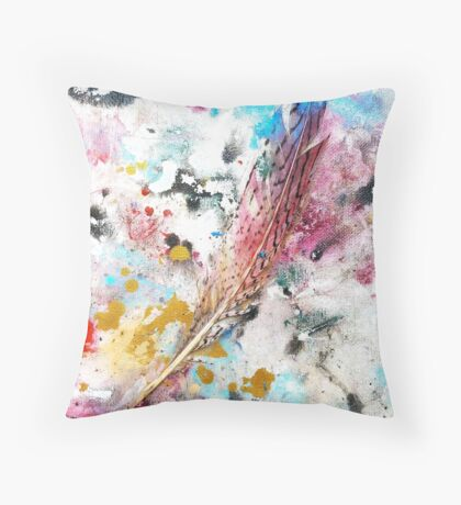 Red, White, and Blue! - Rain Painting Throw Pillow