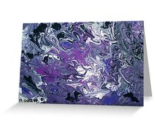 Metallic Purple Acrylic Pour Greeting Card