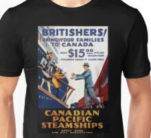 Vintage Canadian Pacific Steamships Canada Travel Unisex T-Shirt