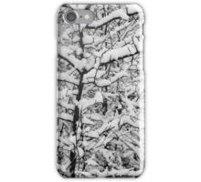 Snow Patterns BW iPhone Case/Skin