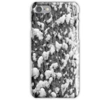 Snow Speckled Tree BW iPhone Case/Skin