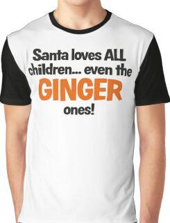 Santa Loves Ginger Children fun Christmas design Graphic T-Shirt