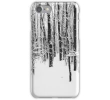 Snowy Forest 14 BW iPhone Case/Skin