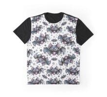 Creepy Cute Bats Pattern Graphic T-Shirt