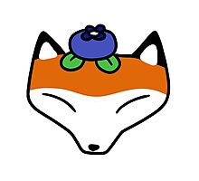 Blueberry Fox Face Photographic Print
