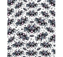 Creepy Cute Bats Pattern Photographic Print