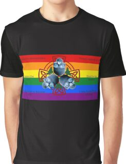 LeatherWing Coat of Arms LGBTQ Pride Graphic T-Shirt