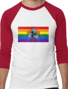 LeatherWing Coat of Arms LGBTQ Pride Men's Baseball ¾ T-Shirt