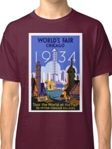 Vintage Chicago World's Fair 1934 Travel Classic T-Shirt