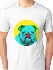 Yellow Bubble Bull Dog Pop Art Unisex T-Shirt