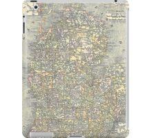 Vintage Map of Michigan (1901)  iPad Case/Skin