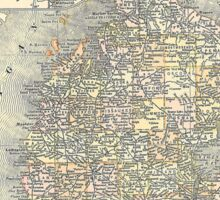 Vintage Map of Michigan (1901)  Sticker