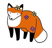 Flower Fox Photographic Print