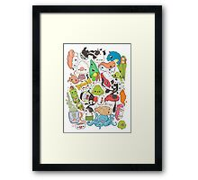 Sushi Bar: The point of Nori-turn Framed Print