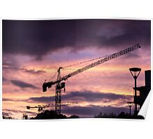 Industrialist sunset Poster