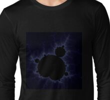 Fractal Light - Blue Mandelbrot Long Sleeve T-Shirt