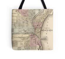 Vintage Map of Milwaukee (1880) Tote Bag