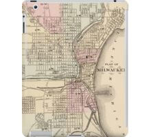 Vintage Map of Milwaukee (1880) iPad Case/Skin