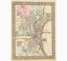 Vintage Map of Milwaukee (1880) Unisex T-Shirt