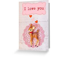 I love you says bambi Valentine card  Greeting Card