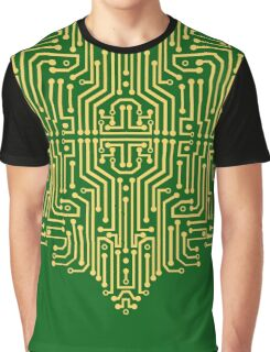 Circuit Flower Graphic T-Shirt