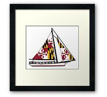 Maryland Skipjack Framed Print