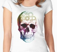 Colorful Skull  Women's Fitted Scoop T-Shirt