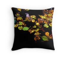 Autumn leaves in water Throw Pillow