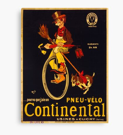 Vintage poster - Continental Bicycles Canvas Print