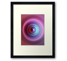 80s Purple Swirl Framed Print