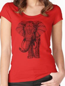 Ornate Elephant Women's Fitted Scoop T-Shirt