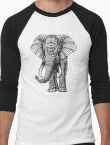 Ornate Elephant Men's Baseball ¾ T-Shirt