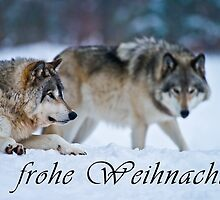 Timber Wolf Christmas Card - German - 17 by WolvesOnly