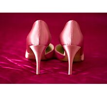 My fabulous pink wedding shoes Photographic Print