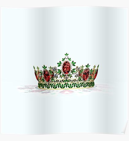 Ruby & Emerald Crown Poster