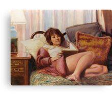 Patrice Reads Sartre Canvas Print