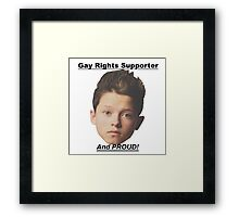Jacob Sartorius Gay Rights Supporter Framed Print